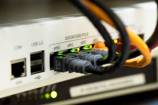 An ethernet network connected to a security system